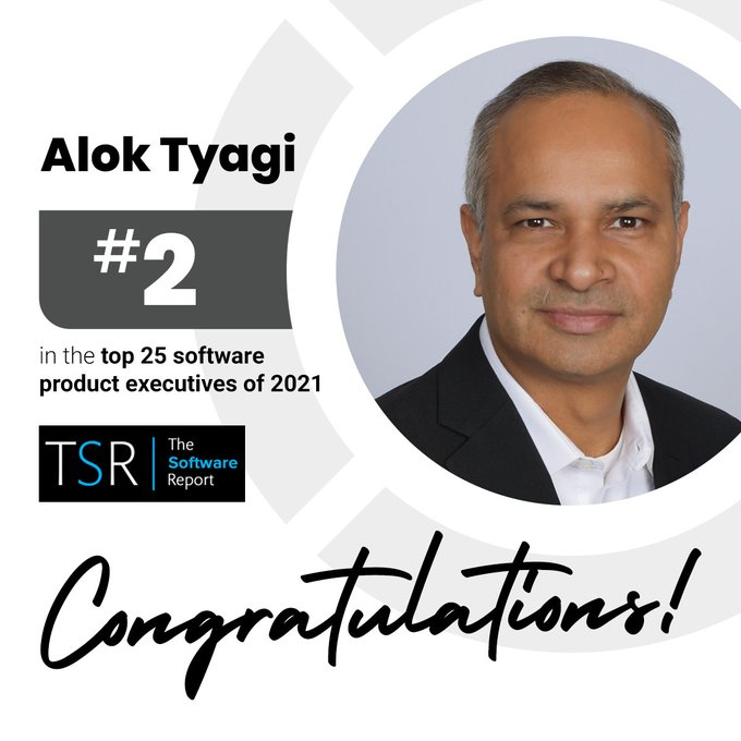 Alok Tyagi honored as a 'Top 25 Software Product Executive'